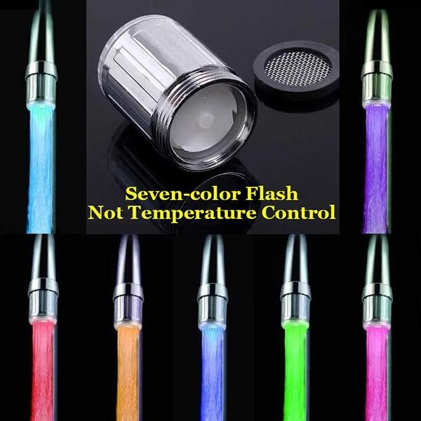 The Futuristic Eco-Friendly LED Temperature Sensor Colour Changing Water Saving Faucet Light Aerators ZhangJiHome Store multi-color