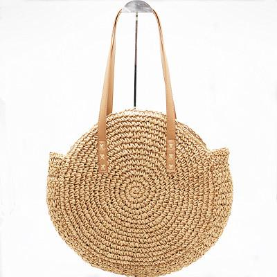 The Bali Island Handmade Woven Rattan Straw Bohemian Shoulder Crossbody Bag Collection Shoulder Bags AOILDLLI Official Store Natural Brown Soft 2