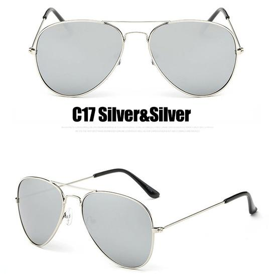 The Outdoor Lover Luxe Pilot Mirror Unisex Eyewear Women's Sunglasses LeonLion Store C17 Silver Silver