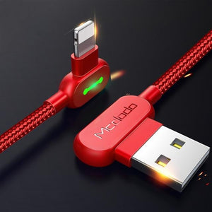 The Must-Have, Super Durable, and No-Nonsense Lightening Speed Fast Data Transmission USB Charging Cable For iPhone and iPad Mobile Phone Cables MCDODO Official Store Red 1.2m (3.9ft)