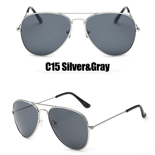 The Outdoor Lover Luxe Pilot Mirror Unisex Eyewear Women's Sunglasses LeonLion Store C15 Silver Gray