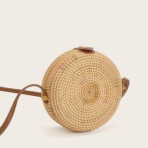 The Bali Island Handmade Woven Rattan Straw Bohemian Shoulder Crossbody Bag Collection Shoulder Bags AOILDLLI Official Store Natural & Minimal 2 (18cm x 8cm)