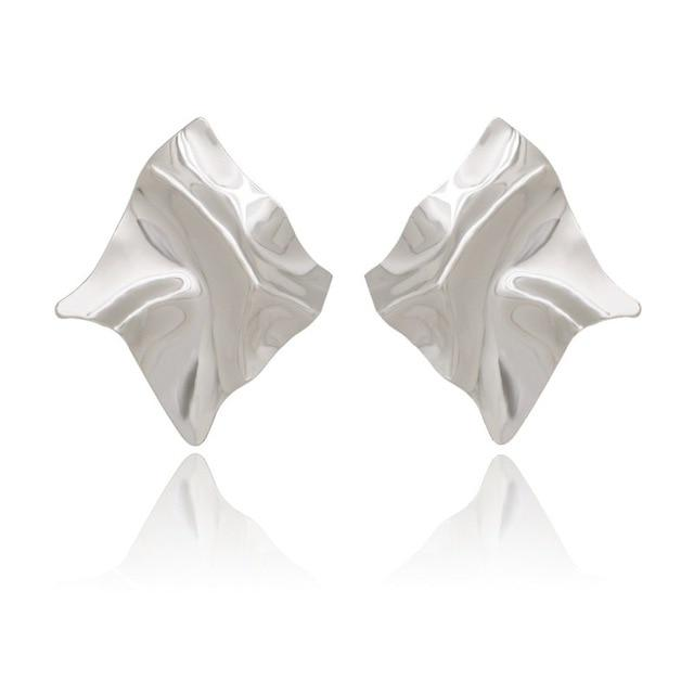 The Ultimate Exaggerated Organic Square Rhombus Super Shiny Party Metal Drop Earrings - HABIT