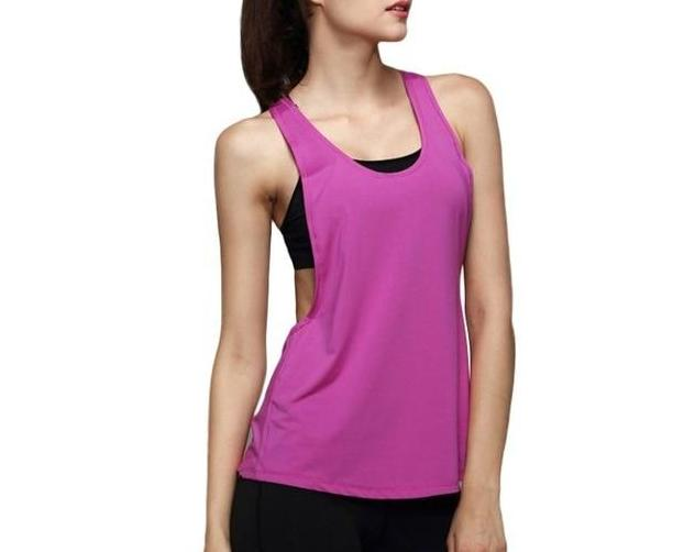 The Minimal Sleeveless Singlet Vest Yoga Shirts Loves Sporting Store Purple S