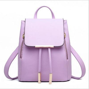 The Minimal School Rucksack Backpack Backpacks Rusoonnic Store Peaceful Purple