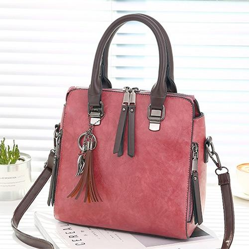 The Boston Private Investigator Vintage Crossbody Shoulder Messenger Handbag Shoulder Bags Yogodlns Outlets Store Dark Pink