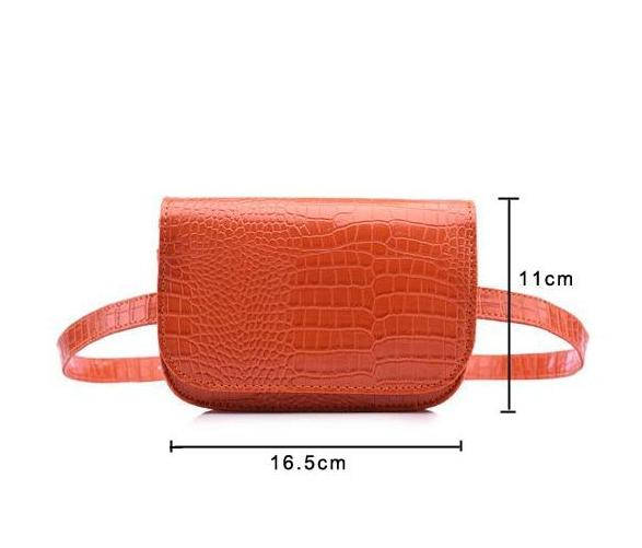 Vintage Alligator Waist Bag Waist Packs DBFashion Store Orange (Small)
