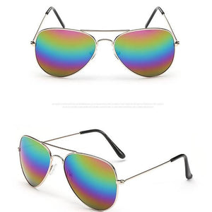 The Outdoor Lover Luxe Pilot Mirror Unisex Eyewear Women's Sunglasses LeonLion Store C13 Gold Colorful