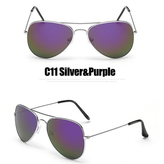 The Outdoor Lover Luxe Pilot Mirror Unisex Eyewear Women's Sunglasses LeonLion Store C11 Silver Purple