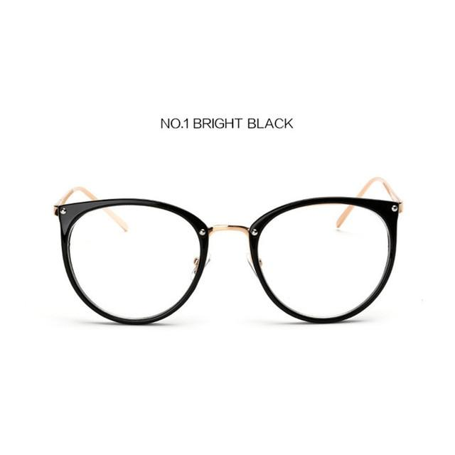 The Kaleidoscope Oversized Cat Eye Glasses Frames Women's Eyewear Frames Kaleidoscope Store Bright Black