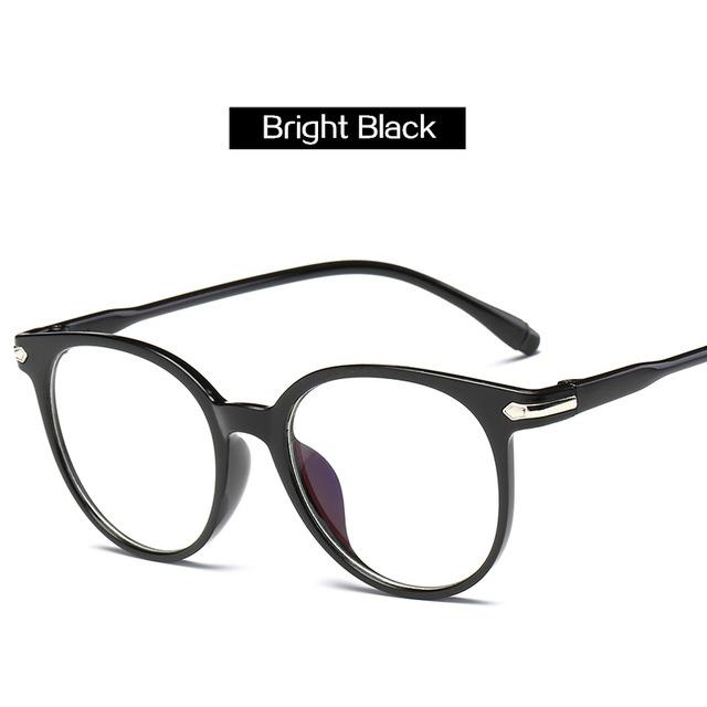 The Easy Breezy Unisex Old-School Crime Novel Vintage Eyeglasses Frames Men's Eyewear Frames Topglasses Store Bright Black