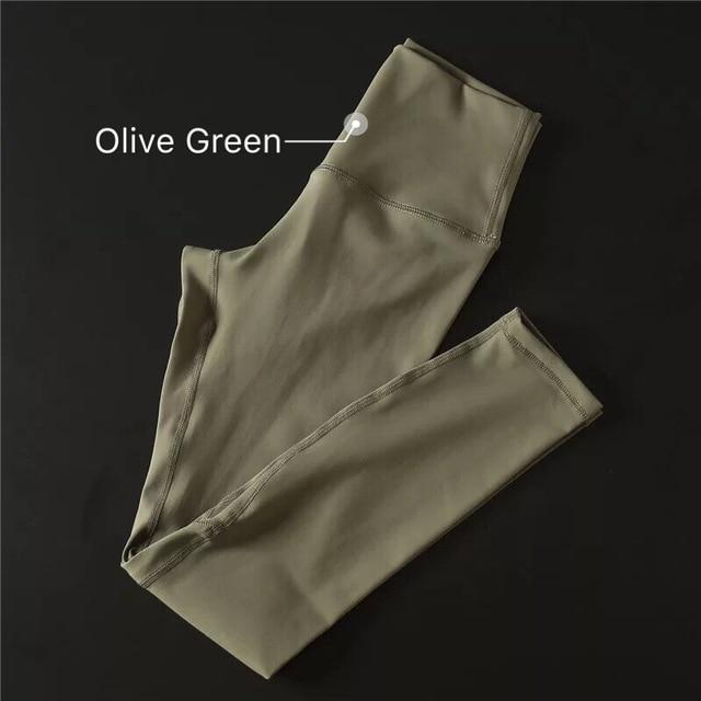 The Secret Secure Card Keeper Anti-Sweat High-Compression Slimming Yoga & Gym Leggings Yoga Pants COLORVALUE Official Store Olive Green XS