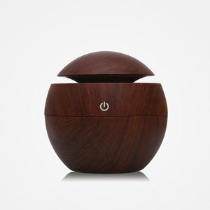 The Eco-Friendly USB Essential Oil Aroma Diffuser, Ultrasonic Cool Mist Air Purifier Humidifier, AND 7 LED Colour Changing Night Light Ball of Wonder Humidifiers KBAYBO Official Store Kaya Mahogany (Dark) (Style A)