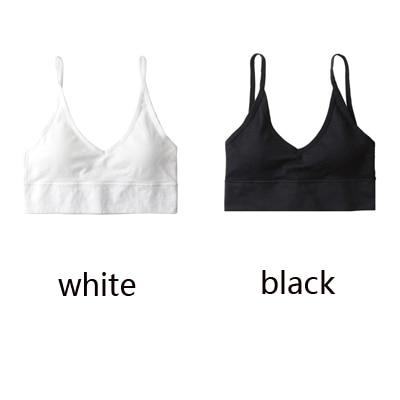 The Comfy Cotton Push Up Wireless Padded Seamless Backless Bralette Bras Milay Store Black + White Set (2 pcs)