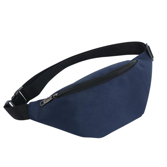 Colour Block Canvas Waist Chest Bag Waist Packs AIREEBAY Store Deep Blue