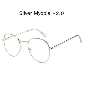 The Metallic Super Cute Doll Tokyo Kawaii Cat Ears Myopia Stylish Frame Glasses Men's Eyewear Frames Zilead Glasses Global Store silver myopia 2.0