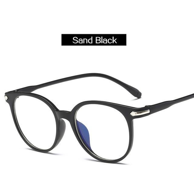 The Easy Breezy Unisex Old-School Crime Novel Vintage Eyeglasses Frames Men's Eyewear Frames Topglasses Store Sand Black