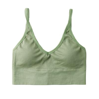 The Comfy Cotton Push Up Wireless Padded Seamless Backless Bralette Bras Milay Store Green (1 pcs)