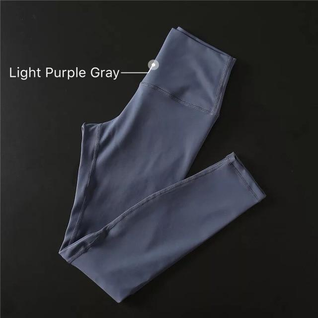 The Secret Secure Card Keeper Anti-Sweat High-Compression Slimming Yoga & Gym Leggings Yoga Pants COLORVALUE Official Store Light Purple Gray XS