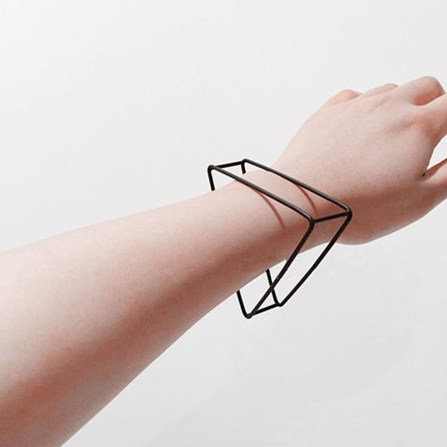 The 3D Ultra Contemporary Fashion Jewelry Geometric Polygon Bangle Cuffs and Rings Collection Bangles Cos Store Triangle Bangle Cuff