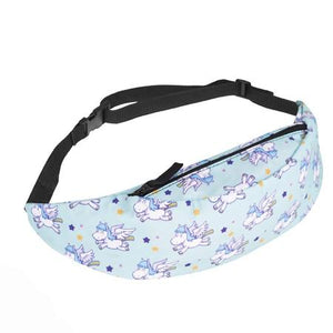 The Animal Canvas Sling Bags Collection Waist Packs Jom tokoy Light Blue Flying Unicorn in Bliss