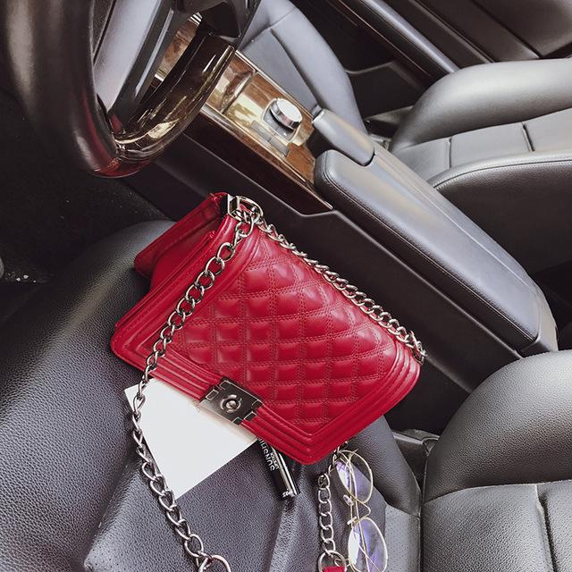The Bank Vault Luxe Crossbody Shoulder Bag Shoulder Bags runcreavo Official Store Blood Red Quilted