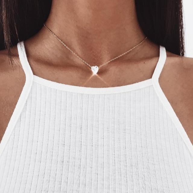 The Ultimate Layering Super Awesome Wow Bohemian Goddess Pendant Choker Necklace Pendant Necklaces Fitable Trendy Store The Tiny Shining Heart Golden Choker Necklace