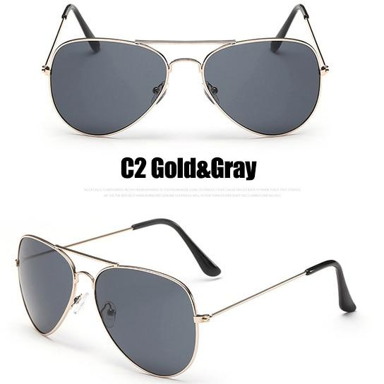 The Outdoor Lover Luxe Pilot Mirror Unisex Eyewear Women's Sunglasses LeonLion Store C2 Gold Gray