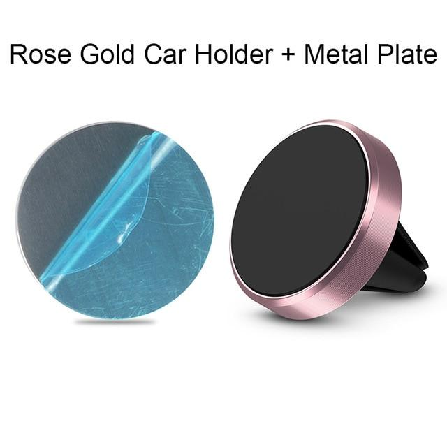 The Best Magnetic Phone Mount for Cars Mobile Phone Holders & Stands BeeBeeBee Store Rose Gold