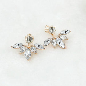 The Hypnotic Bling Ultimate Bejeweled Party Evening Wear Stud Earrings Collection Stud Earrings Fitable Trendy Store Gold Shiny Bling Flower Petals