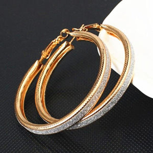Loopy for Hoops Big Round Hollow Geometric Earrings Collection Drop Earrings ZSC JEWLRY & ACCESSORIES Bling Gold Hoops
