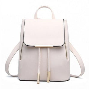 The Minimal School Rucksack Backpack Backpacks Rusoonnic Store Pristine White