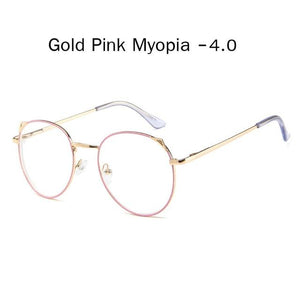 The Metallic Super Cute Doll Tokyo Kawaii Cat Ears Myopia Stylish Frame Glasses Men's Eyewear Frames Zilead Glasses Global Store gold pink myopia 4.0