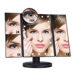 The Broadway Show Magic Intelligent Touch Screen LED Adjustable Lights Mirror Makeup Mirrors DearBeauty Store 22 Lights Fold Black