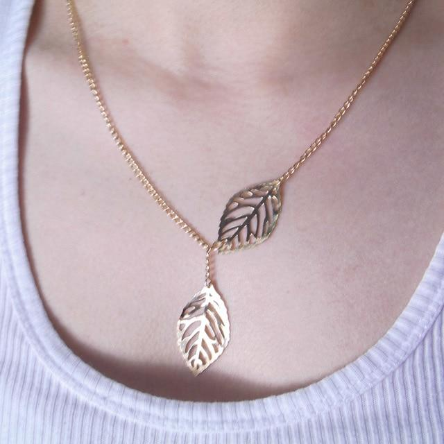 The Ultimate Layering Super Awesome Wow Bohemian Goddess Pendant Choker Necklace Pendant Necklaces Fitable Trendy Store Floating Gold Leaves Necklace