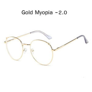 The Metallic Super Cute Doll Tokyo Kawaii Cat Ears Myopia Stylish Frame Glasses Men's Eyewear Frames Zilead Glasses Global Store gold myopia 2.0