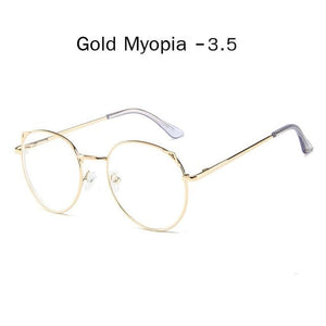 The Metallic Super Cute Doll Tokyo Kawaii Cat Ears Myopia Stylish Frame Glasses Men's Eyewear Frames Zilead Glasses Global Store gold myopia 3.5