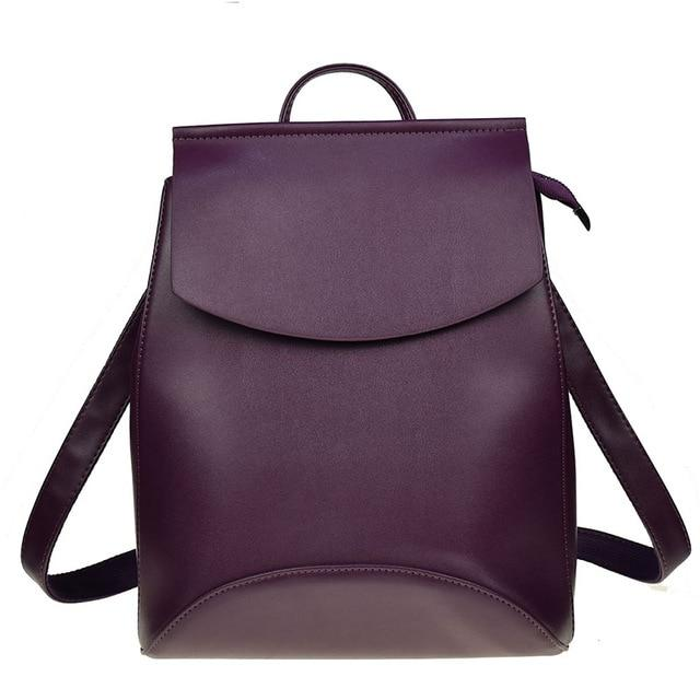The Ultimate Minimal School Backpack Shoulder Bag Backpacks Zocilor Official Store Dark Purple