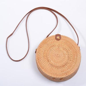 The Bali Island Handmade Woven Rattan Straw Bohemian Shoulder Crossbody Bag Collection Shoulder Bags AOILDLLI Official Store Natural & Minimal 3 (20cm x 8cm)
