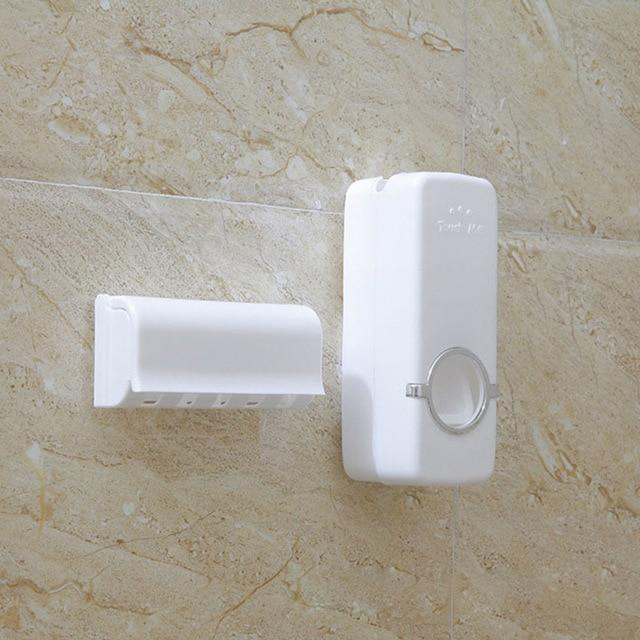 The Supreme Eco-Friendly Automatic Bathroom Accessories Set Holder and Toothpaste Dispenser Bathroom Accessories Sets Global XINYU Store Milk