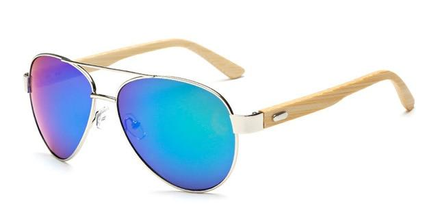 The Wooden Nature Lover Eco-Friendly Bamboo Pilot Sunglasses Women's Sunglasses YinXin Glasses Store C3