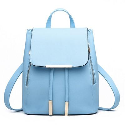 The Minimal School Rucksack Backpack Backpacks Rusoonnic Store Sky Blue