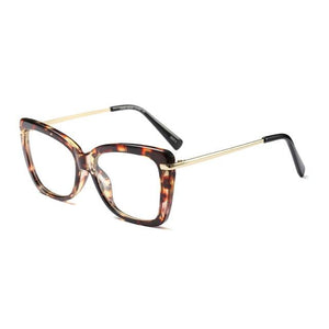 Find Your Dream Pair With The Squarish Cat Eyeglasses Frames Women's Eyewear Frames Logorela Official Store Leopard