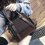 Classic Satchel Shoulder Crossbody Bag Handbag Shoulder Bags LEFTSIDE Official Store Dark Roast Chocolate 26cm x 23cm x 14cm