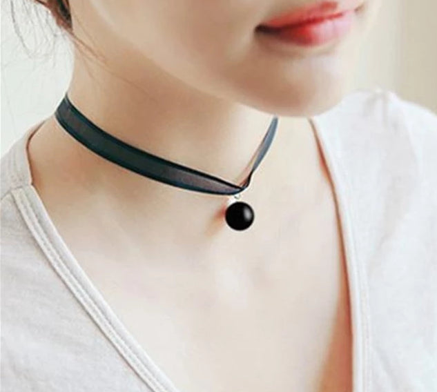 The Minimalist Old France Sexy Collier Lace Flower Elastic Vintage Choker Necklaces Collection Choker Necklaces QBH Jewelry Co.,Ltd min order $1 The Black Pearl