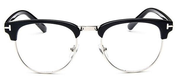 The Halfsies Retro Cat Eyeglasses For Women's Women's Eyewear Frames SHENZHEN BO SHI TONG black silver