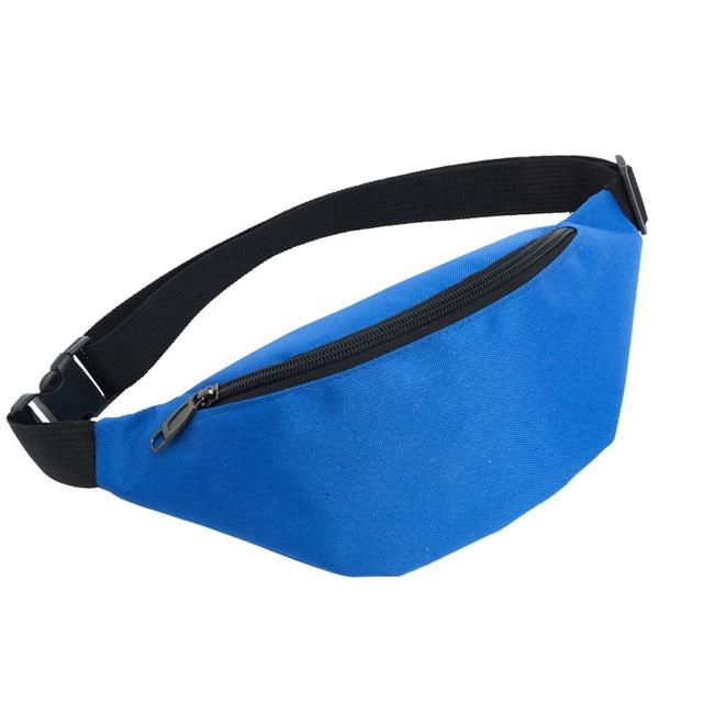 Colour Block Canvas Waist Chest Bag Waist Packs AIREEBAY Store Blue