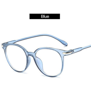 The Easy Breezy Unisex Old-School Crime Novel Vintage Eyeglasses Frames Men's Eyewear Frames Topglasses Store Blue