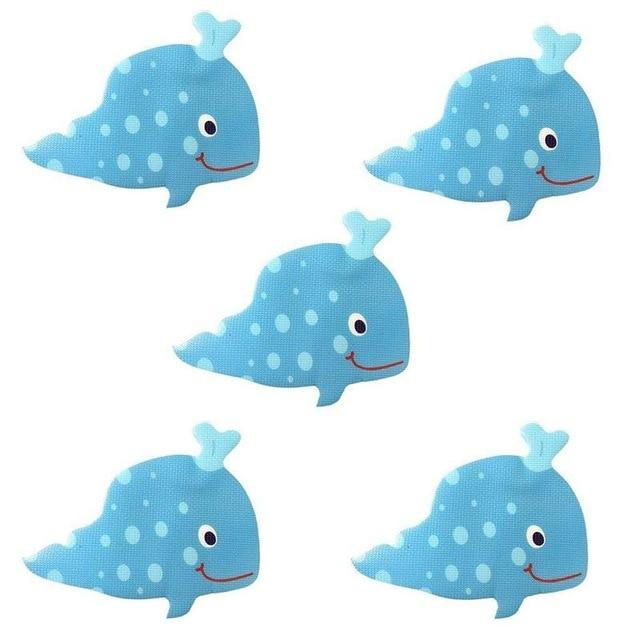 Silly Whale or Shark Anti-Bacterial Waterproof Non-Slip Grip Stickers Bath Mats My Bottle Store Silly Whales