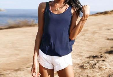 Easy-Breezy Backless Yoga Singlet Yoga Shirts LA a L'A Store Blue S